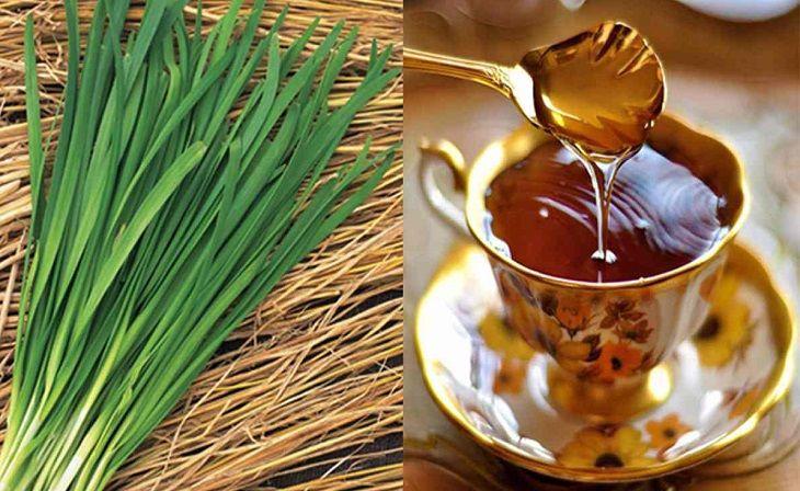 Lá hẹ và mật ong là một trong những cách chữa viêm amidan bằng phương pháp dân gian hiệu quả